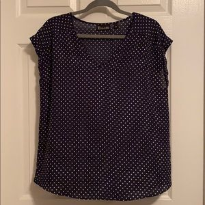 Blue polka top